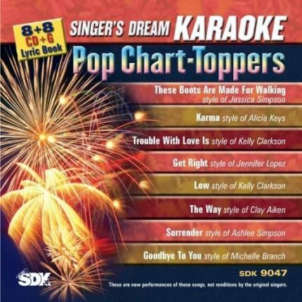 Pop Chart-Toppers - Karaoke Playbacks - SDK 9047 - CD-Front
