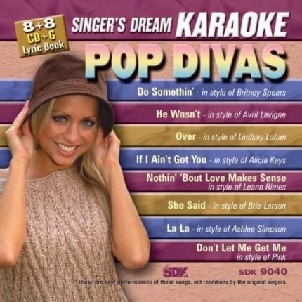 Pop Divas - SDK 9040 - Karaoke Playbacks - CD-Front