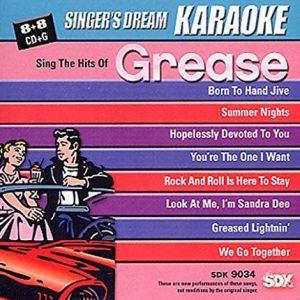 Sing The Hits Of Grease - Karaoke Playbacks - SDK 9034 - CD-Front