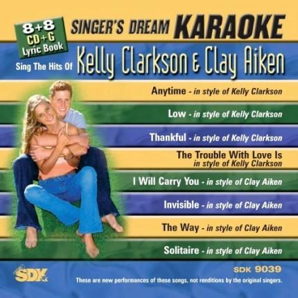 Sing-The-Hits-Of-Kelly-Clarkson-Clay-Aiken-Karaoke-Playbacks-SDK-9039-CD-Cover