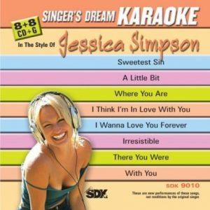 Singer's Dream - Jessica Simpson - Karaoke Playbacks - SDK 9010 - CD-Front