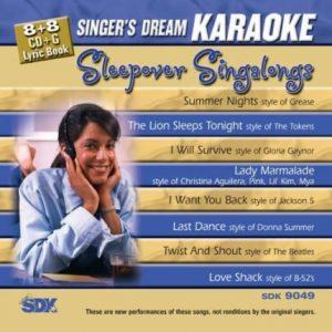 Sleepover Singalongs - Karaoke Playbacks - SDK 9049 - CD-Front