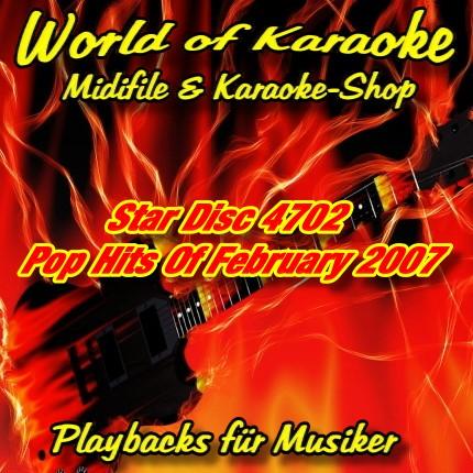 Star Disc 4702 Pop Hits Of February 2007