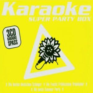 Super Party Box - Karaoke Playbacks - 3 CD Set - Front