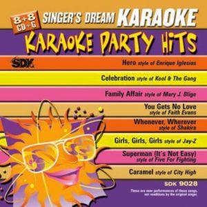 Top Party Hits - Karaoke Playbacks - SDK 9028 - CD-Cover