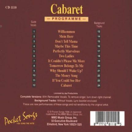 Cabaret – Karaoke Playbacks - PSCD 1110 - RS