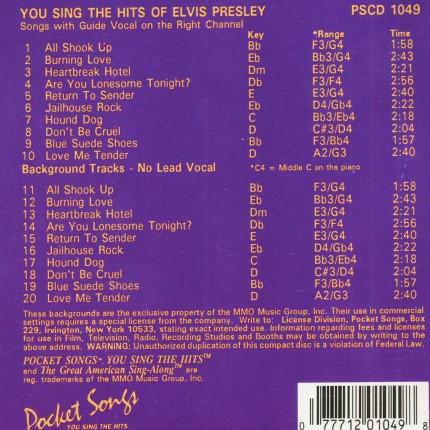 Hits von Elvis Presley - Karaoke Playbacks - PSCDG 1049 - RS
