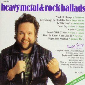 Metal und Rock Ballads - Karaoke Playbacks - PSCD 1062 - CD Front