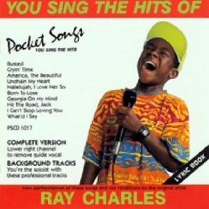 RAY CHARLES - Karaoke Playbacks - Pocket Songs PS 1017 - Front-CD