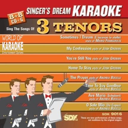 3 Tenors - Karaoke Playbacks - SDK 9016 - CD-Front -