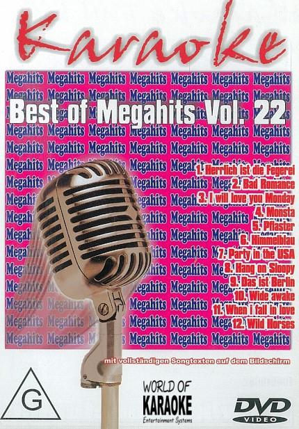 Best Of Megahits Vol. 22 - DVD - Karaoke Playbacks -