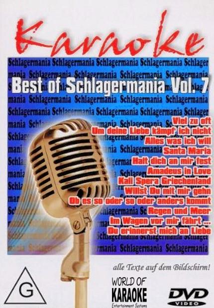 Best of Schlagermania Vol. 07 - Karaoke Playbacks - DVD - Front -