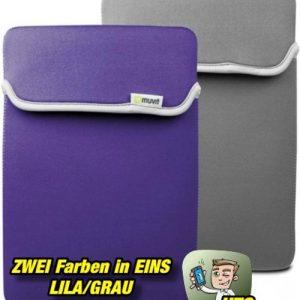 Muvit Reversible Neopren Sleeve für Tablets bis 10,2 Zoll - LILA-Grau