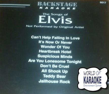 Backstage - Karaoke - Elvis 6017 -