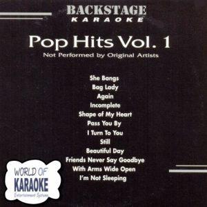 Pop Hits Vol.1 - Backstage Karaoke Playbacks - BS 3317 -