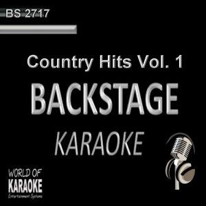 Country Hits Vol. 1 – Karaoke Playbacks – BS 2717 - CD-Front