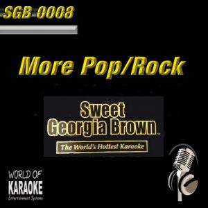 Sweet Georgia Brown - SGB0008 – More Pop und Rock-Hits – Karaoke Playbacks - Album Front