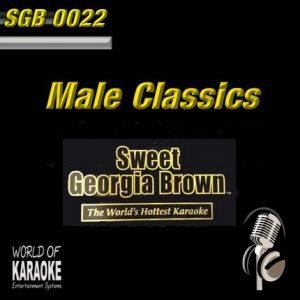 Sweet Georgia Brown - SGB0022 – Male Classics – Karaoke Playbacks - Frontansicht -
