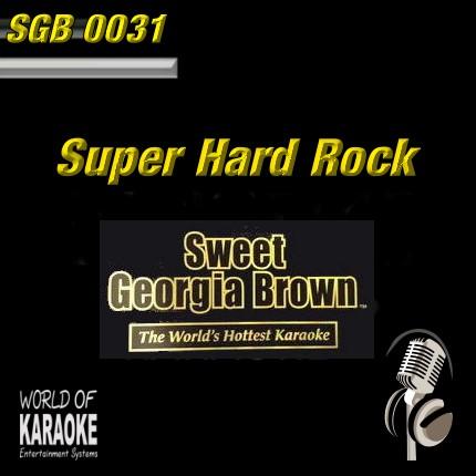 Sweet Georgia Brown - SGB0031 – Hard Rock – Karaoke Playbacks - Ansicht Front