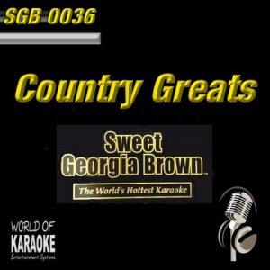 Sweet Georgia Brown - SGB0036 – Country Greats – Karaoke Playbacks