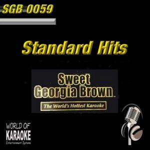 Sweet Georgia Brown - SGB0059 – Standard Hits – Karaoke Playbacks - Album-Front-Ansicht-