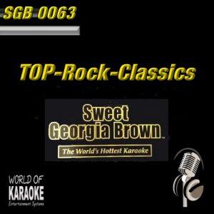 Sweet Georgia Brown - SGB0063 – Top Rock Classics – Karaoke Playbacks- Album Front-