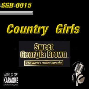Sweet GeorgiaBrown - SGB0015 – Country Girls – Karaoke Playbacks - CD-Front-