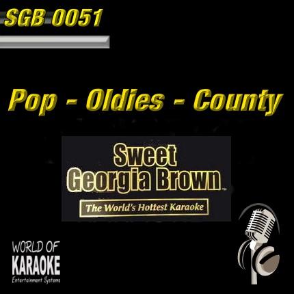 Sweet Georiga Brown – SGB0051 - Pop-Country und Oldies – Karaoke Playbacks - CD-Front-