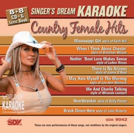 Singer-s Dream - Country Female Hits - SDK 9042 - Karaoke Playbacks
