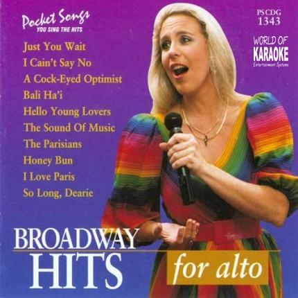 Broadway Hits for Alto – PSCDG 1343 – Karaoke Playbacks - Front-Bild