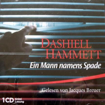 Hörbuch - Dashiell Hammett.Ein Mann namens Spade Audio-CD - Cover