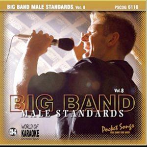 Karaoke Playbacks – Big Band Male Standards Vol. 8 – PSCDG 6118 - CD-Front