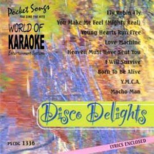 Karaoke Playbacks – PSCD 1336 – DISCO DELIGHTS - CD-Front