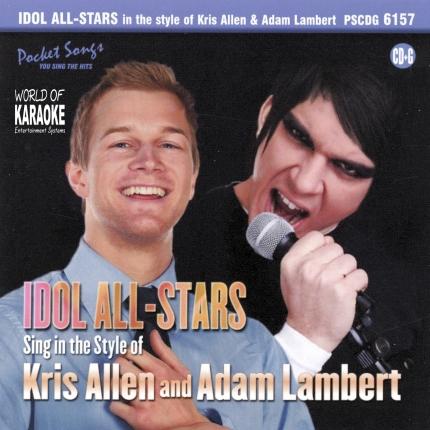 Karaoke Playbacks – PSCD - 6157 – Idol All-Stars – Kris Allen & Adam Lambert - Cd-Front
