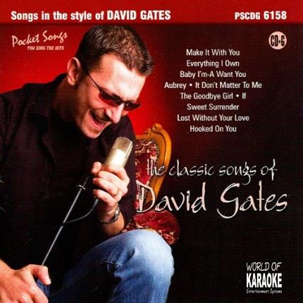 Karaoke Playbacks – PSCD 6158 – Classic Songs of David Gates - CD-Front