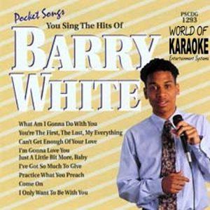 Karaoke Playbacks – PSCDG 1293 – Hits Of Barry White - CD-Front