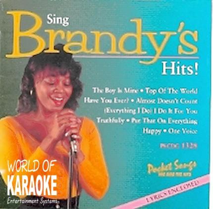 Karaoke Playbacks – PSCDG 1328 – Sing Brandy's Hits - CD-Front