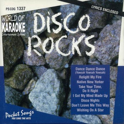 Karaoke Playbacks – PSCDG 1337 – DISCO ROCKS - CD-Front