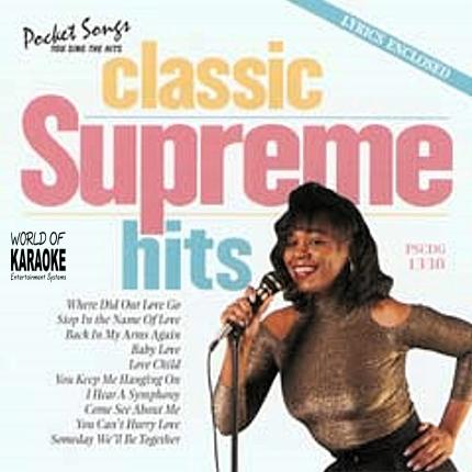 Karaoke Playbacks – PSCDG 1330 – CLASSIC SUPREMES HITS - CD-Front