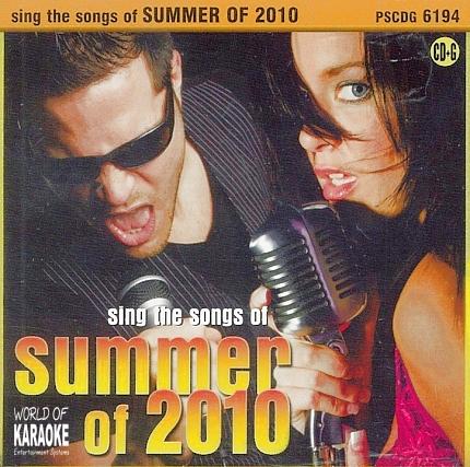 Pocket Songs Karaoke - PSCDG 6194 - Summer of 2010 - Playbacks - CD-Front