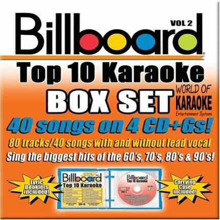 Billboard Top 10 Karaoke Playbacks Vol. 2 - Frontbild