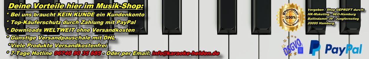 Karaoke-Helden - Playbackshop - Hotline und Infos