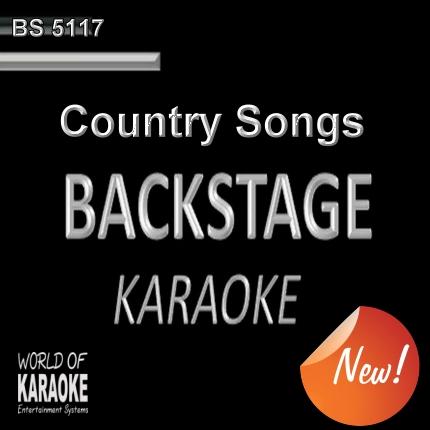 BACKSTAGE KARAOKE – COUNTRY SONGS CD+G – BS5117