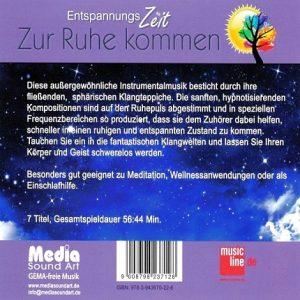 Entspannungszeit - Zur Ruhe Kommen - Entspannungsmusik - CD-Front